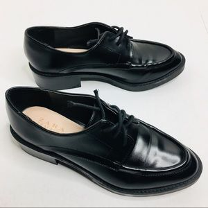 New Zara Trafaluc Oxford Lace Up Loafers